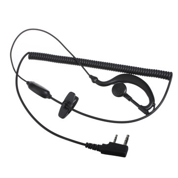 Mic Headset Ear hook Earphone For Radio Walkie Talkies